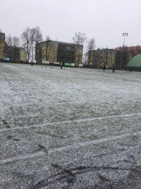 Football + Snow = JOY
