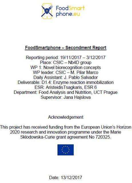 Report concerning the results of the secondment