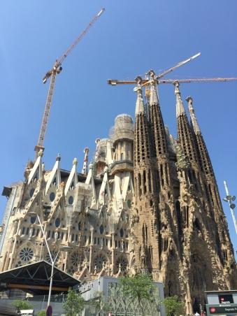 Outside the Sagrada Família