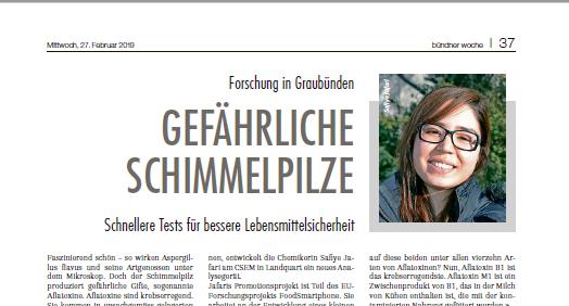 My interview in Bündner Woche