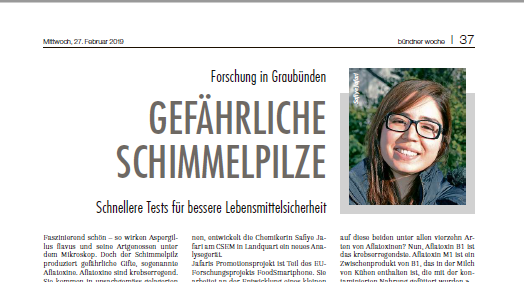 My interview in Bündner Woche